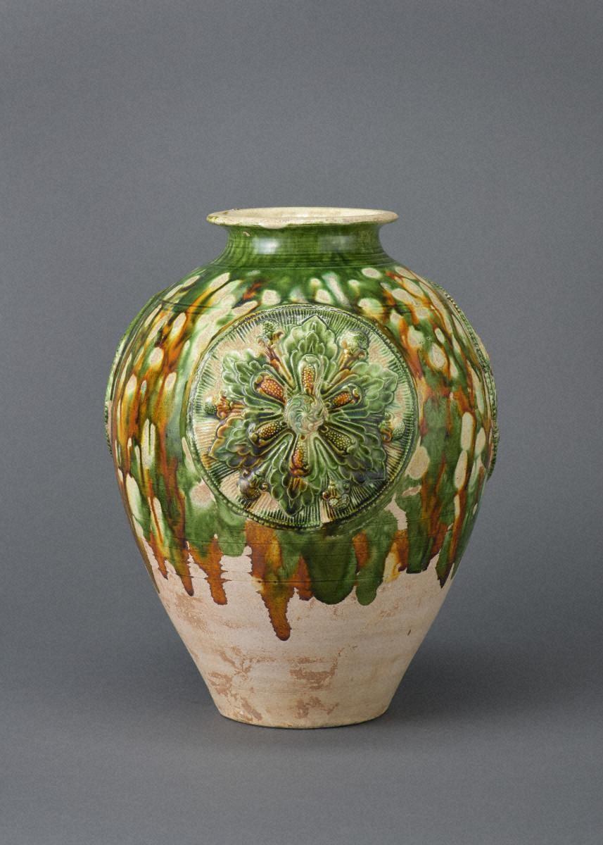 삼채조화 보상화무늬 호
