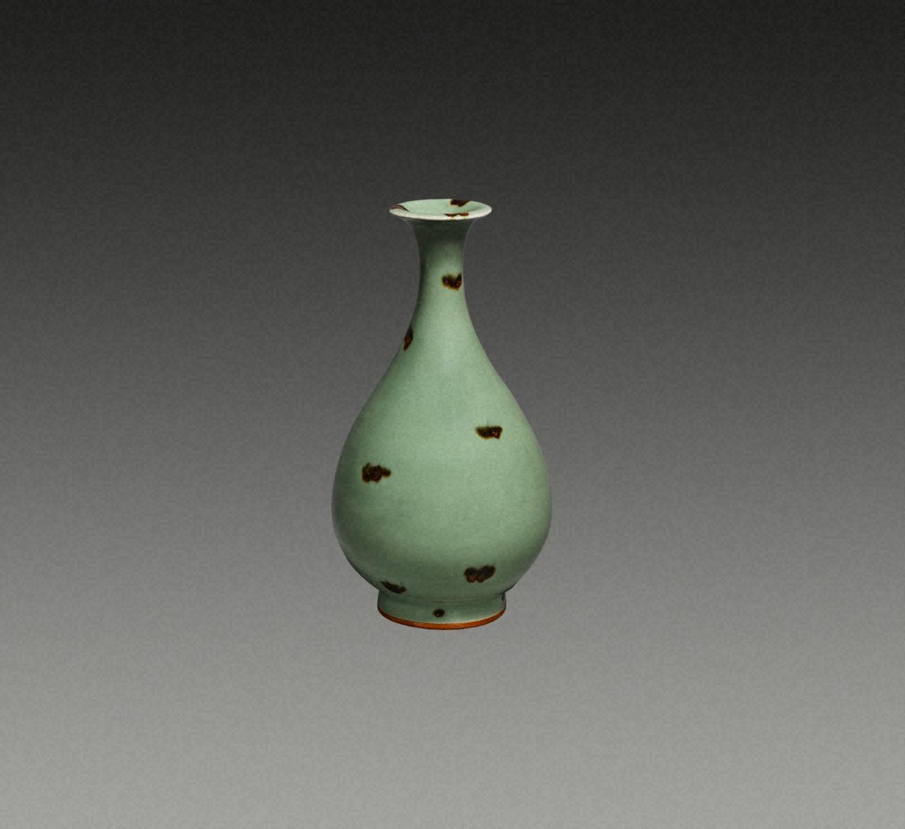 青瓷褐斑  玉壺春瓶