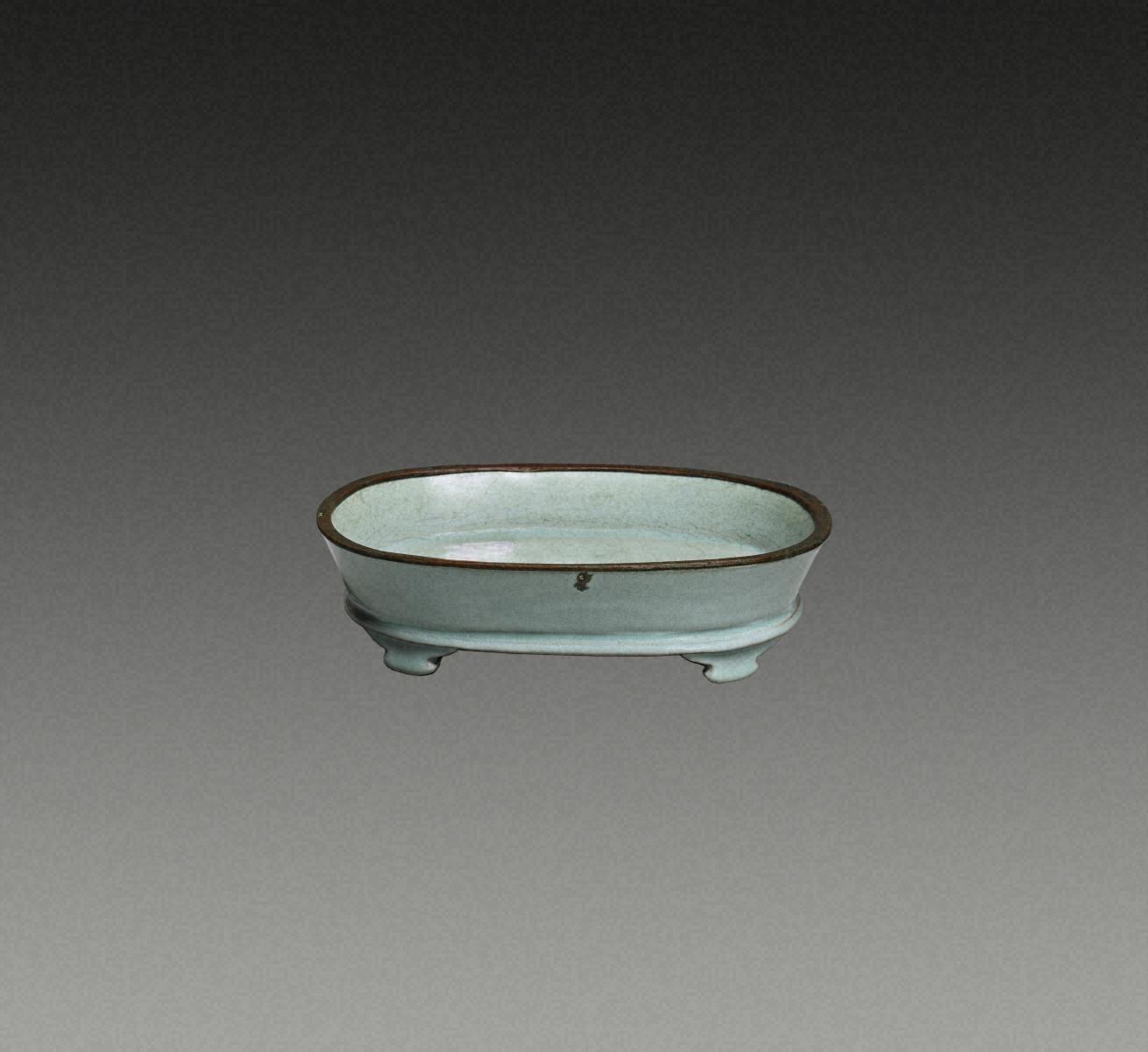 青瓷  水仙盆