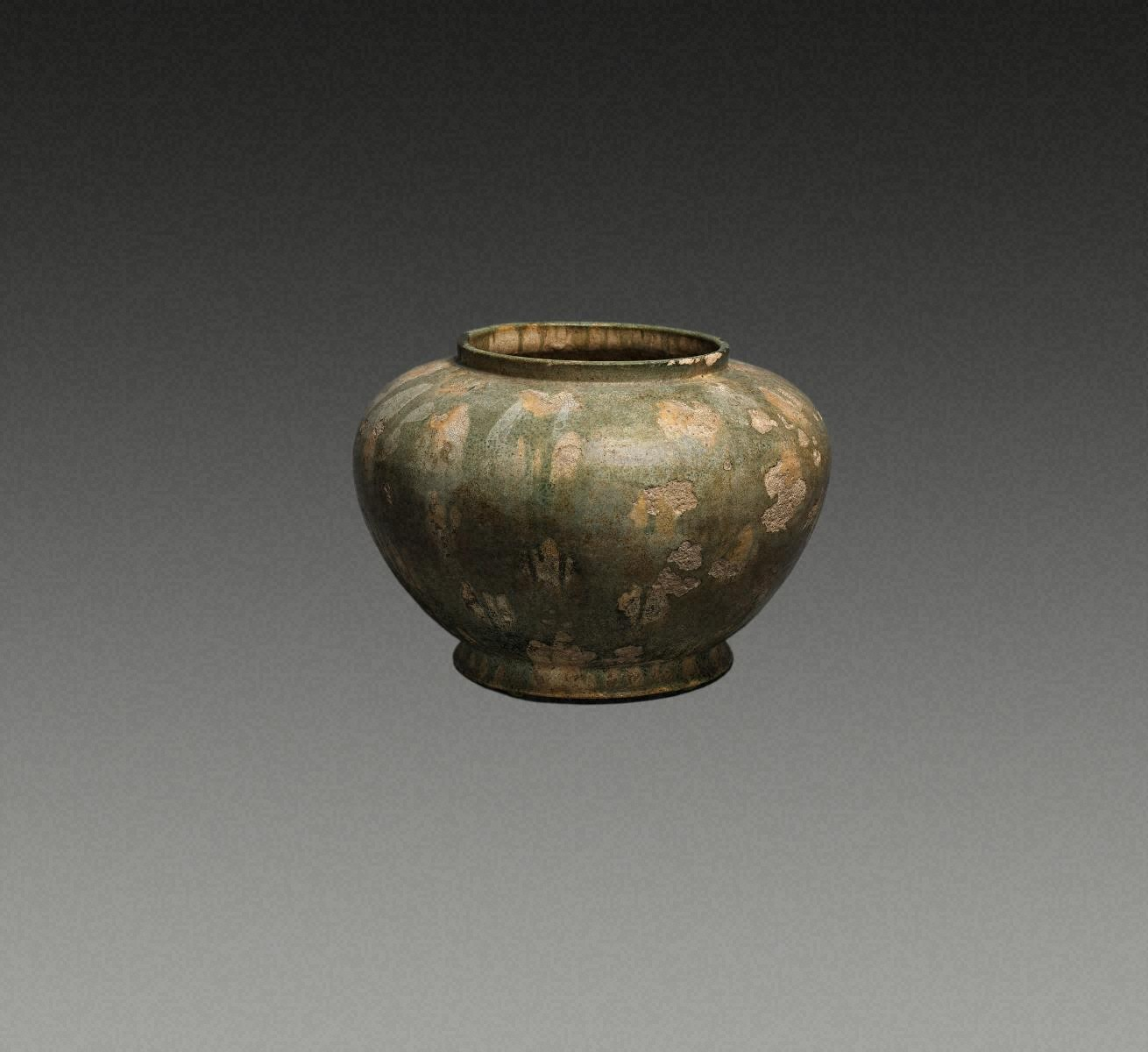 JAR, Earthenware with three-color glaze