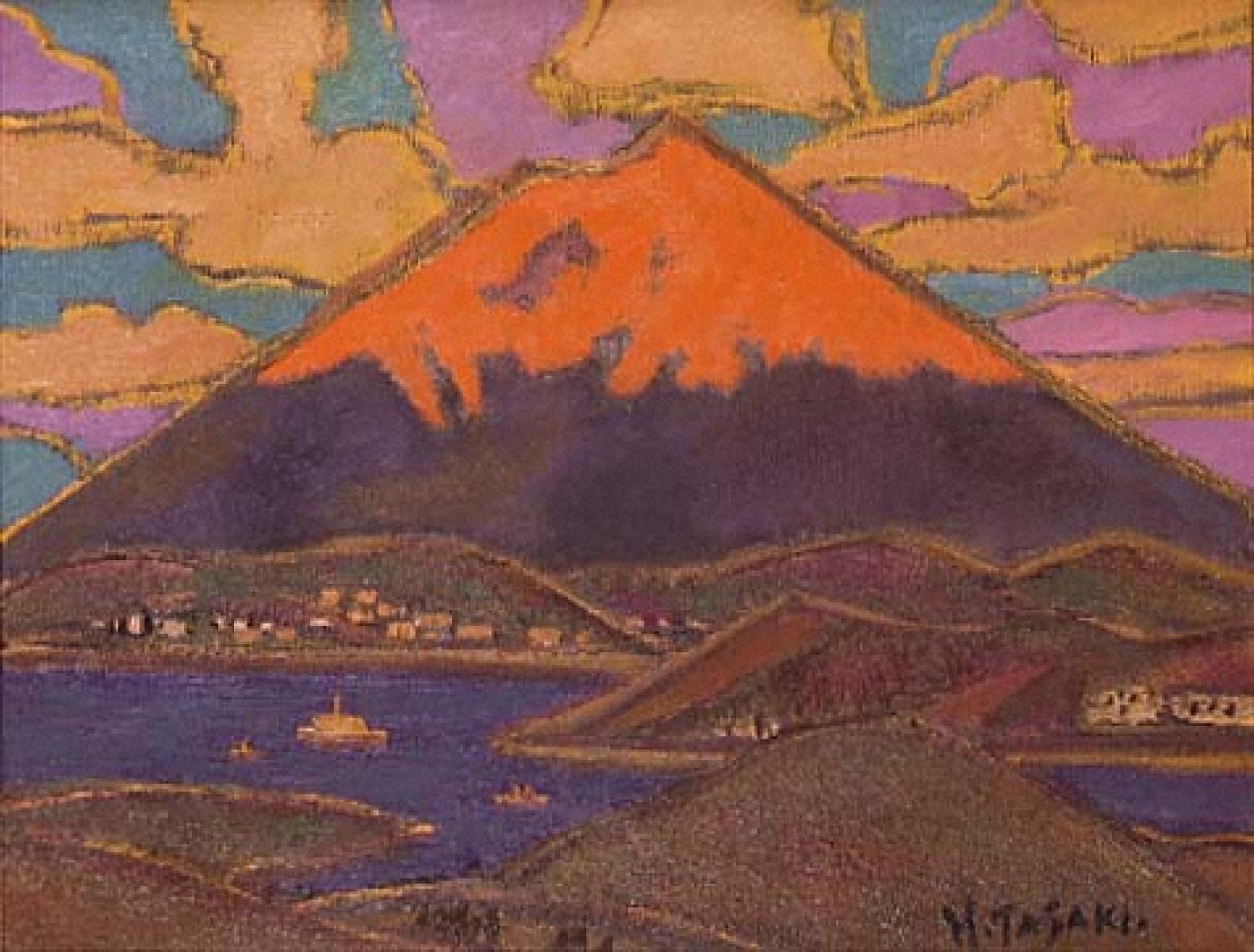 箱根の朱富士