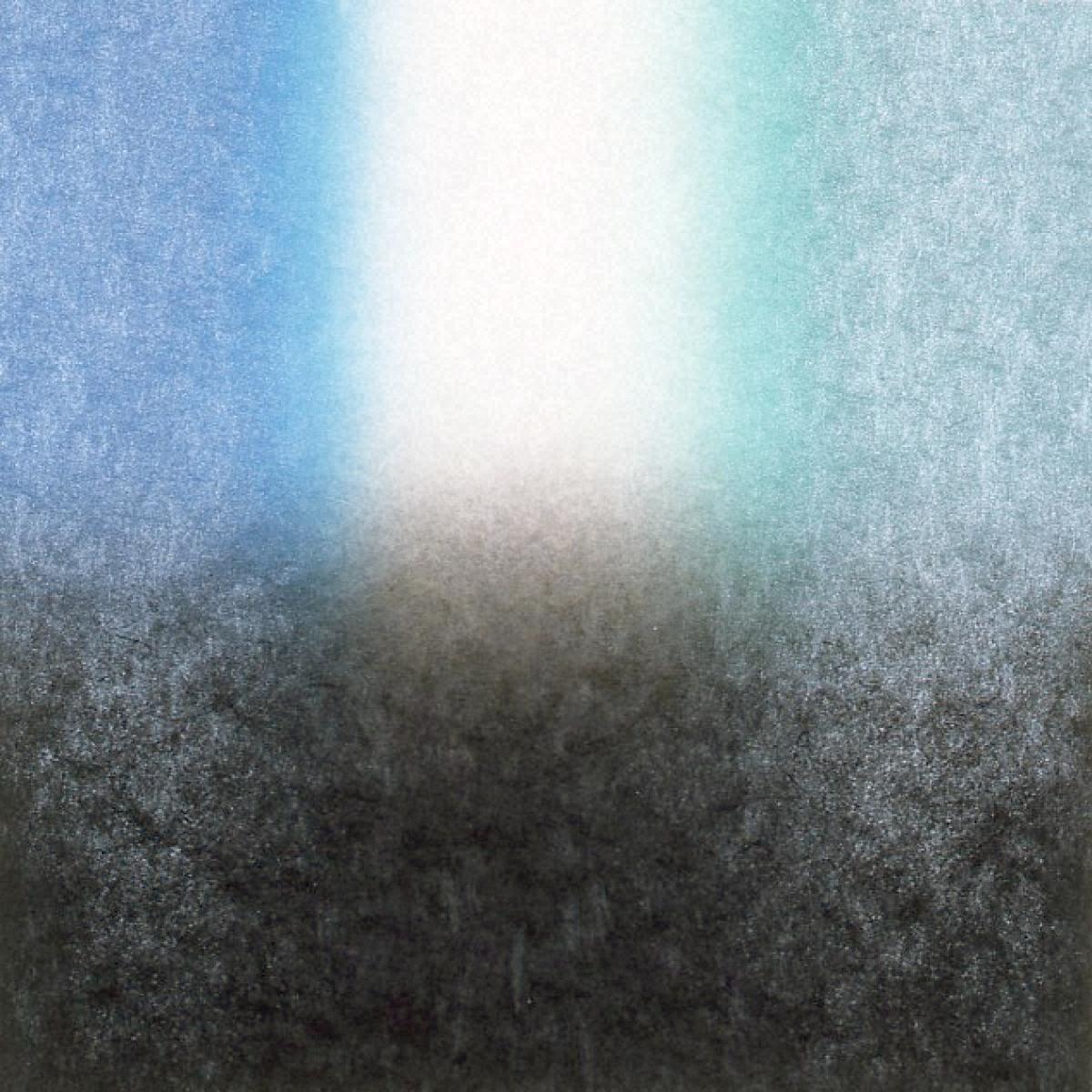 版画集「北の調べ」 Square-Metallic Blue to Green by Black