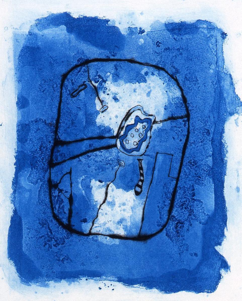 「海の外側に沿って」銅版画集 イン・ザ・ブルー