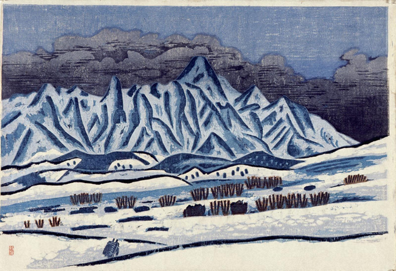 戸隠山雪景