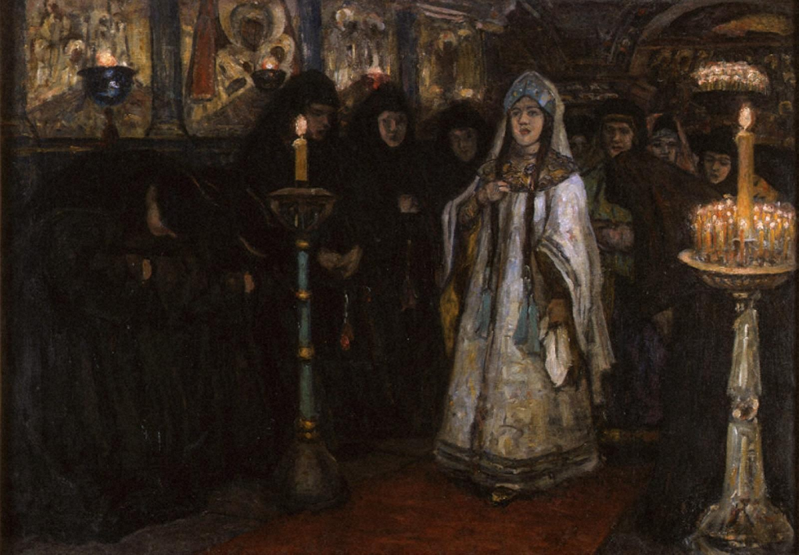 女子修道院を訪れる皇女