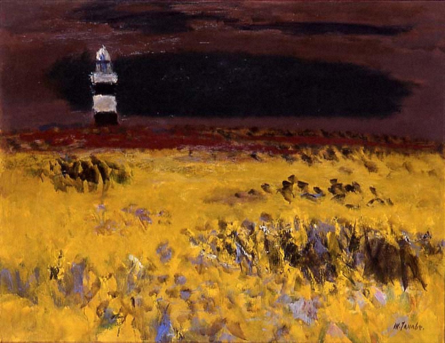 灯台のある草原