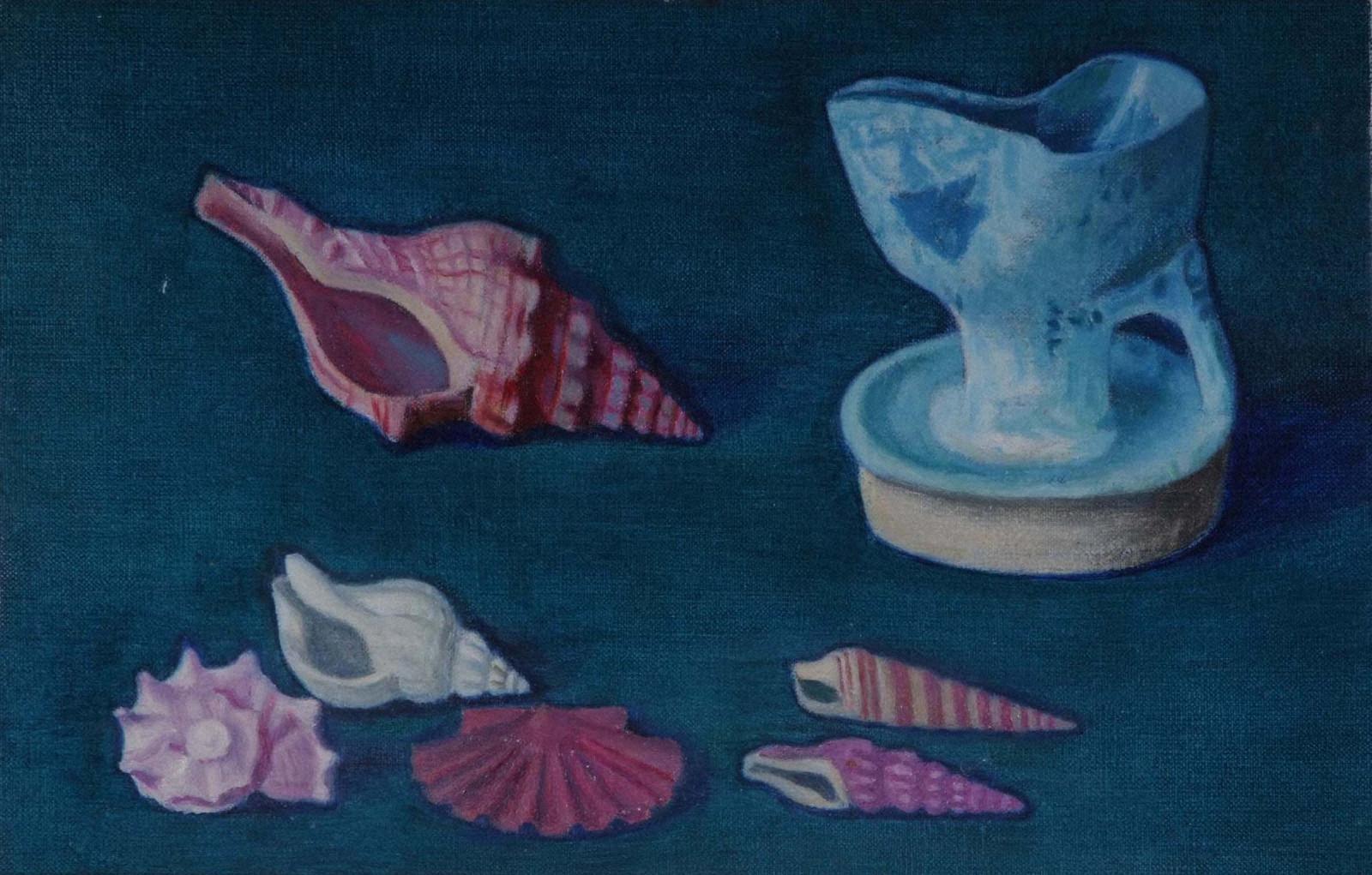 ペルシャ陶器と貝殻
