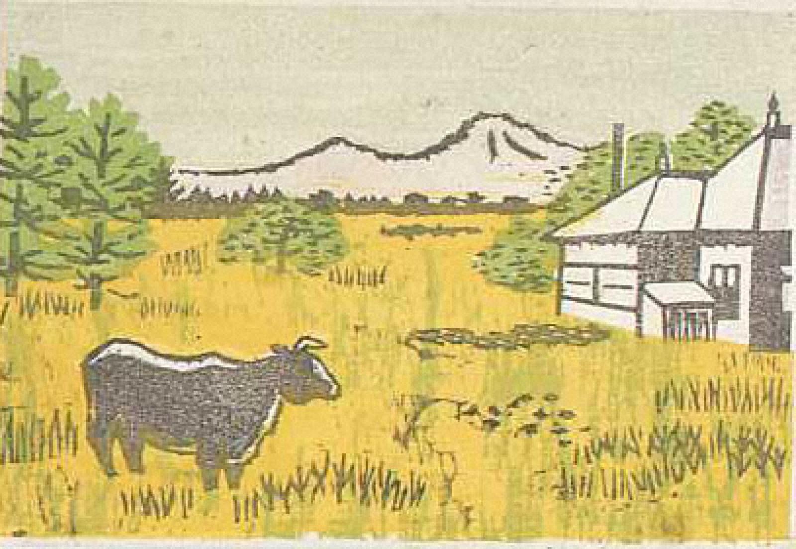 [牛のいる風景]