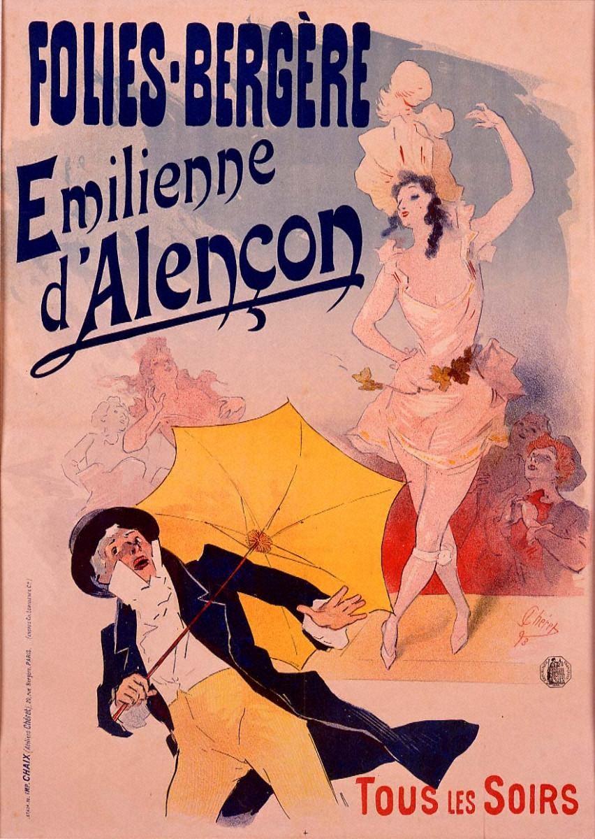 フォリー=ベルジェール劇場のエミリエンヌ・ダランソン