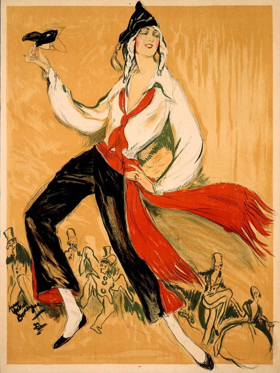 仮面舞踏会(文字刷り前のポスター)