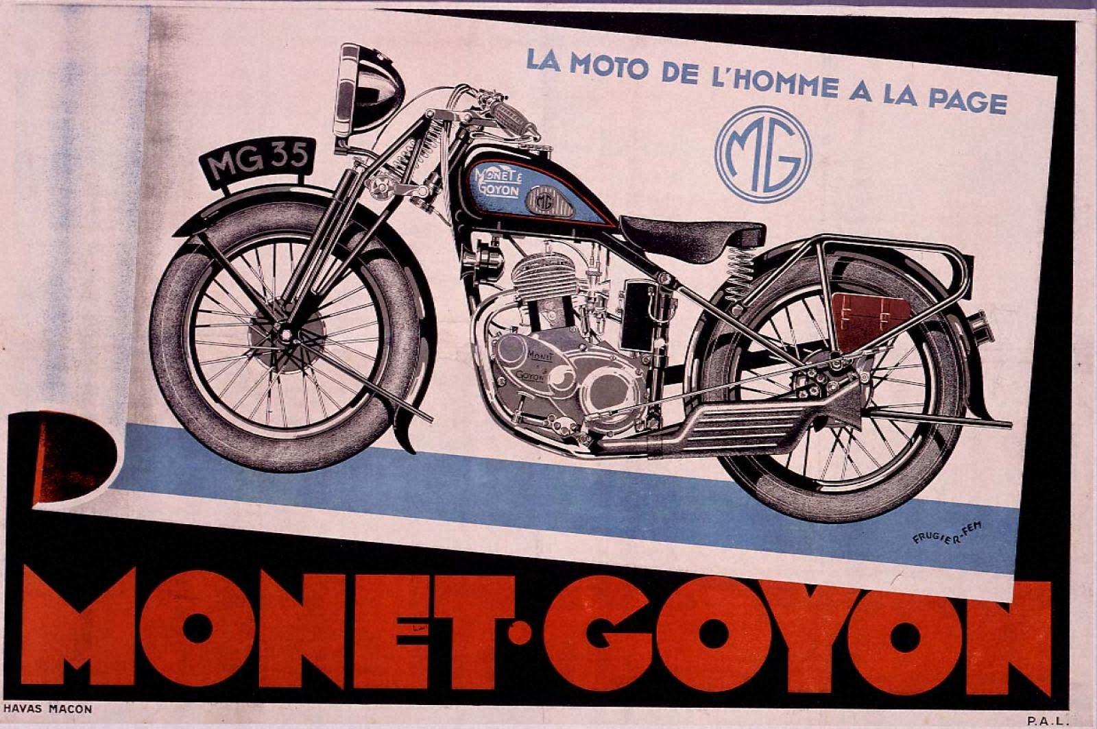 最新型人間のオートバイ「モネ=ゴワイヨン」