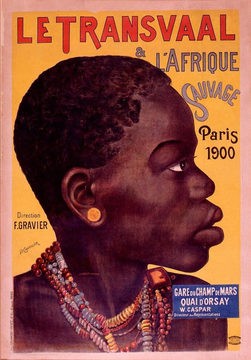 「トランスヴァールと野生のアフリカ」1900年パリ万国博覧会(シャン・ド・マルス駅)