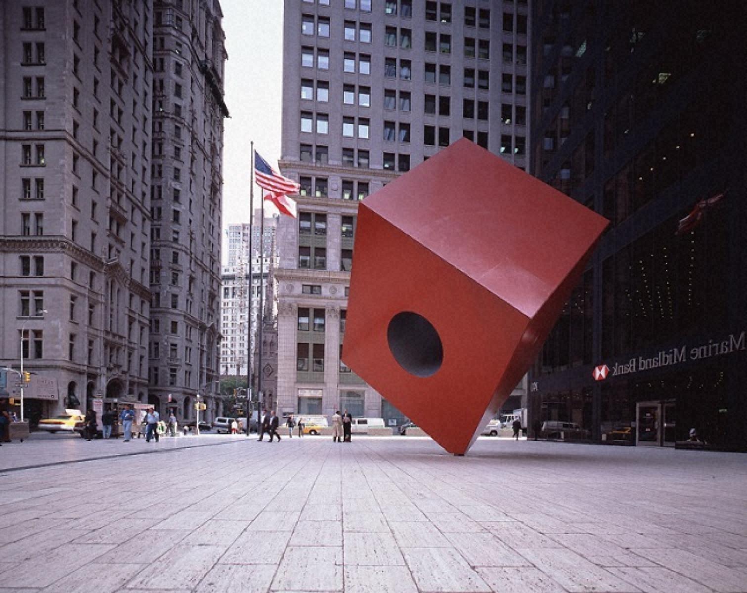 赤い立方体