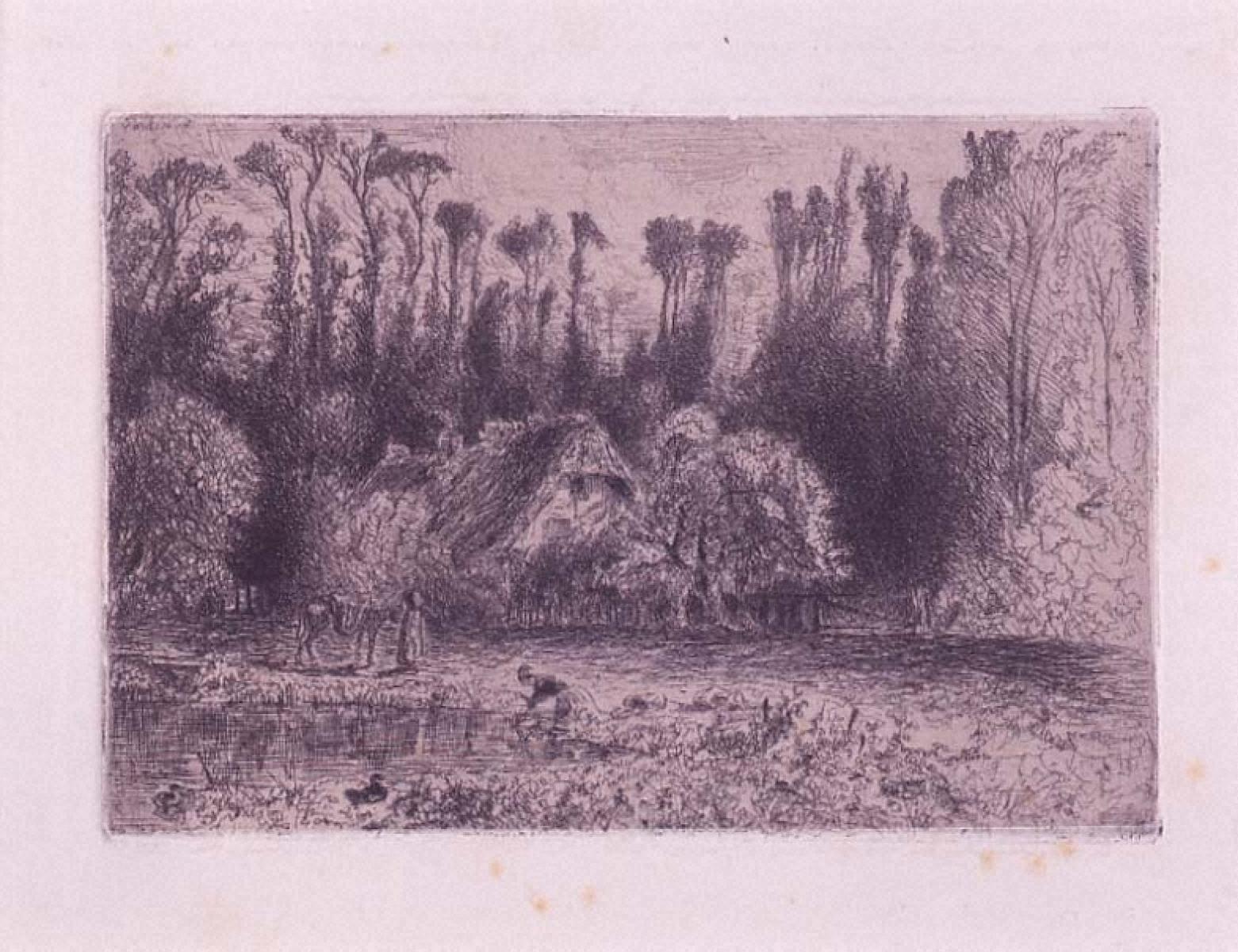 オージュ谷のノルマンディー人の家の庭